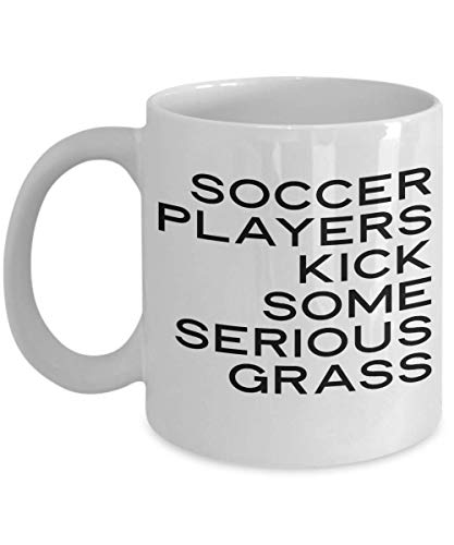 Soccer Players Kick Some Serious Grass Mug Funny Sports Coffee Cup ()