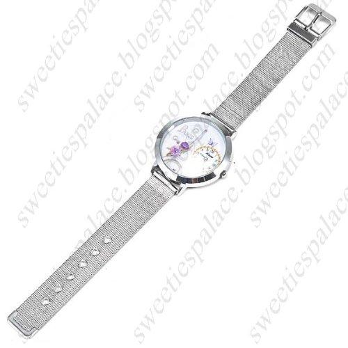Stylish Eiffel Tower Pattern Quartz Watch Wrist Watch Timepiece for Women