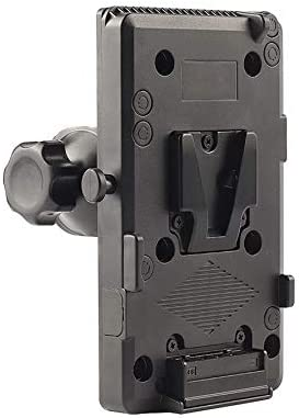 SODIAL Battery Back Pack V-Lock Mount Camera Plate for D-Tap DSLR Rig External