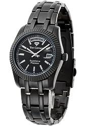 Yves Camani Men's Quartz Watch Yaards schwarz YC1024-B with Metal Strap