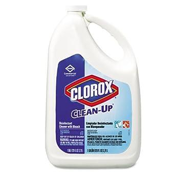 Clorox profesional de limpieza desinfectante limpiador w/Bleach, fresco, 128 oz botella de