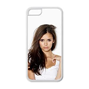 Hardshell Strong Protective Sexy Model and Singer Nina Dobrev Beautiful Women Pictures Protective Cover Case for Iphone 5C TPU Case-5