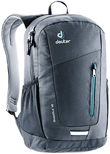 (Deuter StepOut 12 Men's 12 Liter Backpack with Ventilated Back and External Compartments | PFC Free and Internal Organization for Business, Travel, School, and Everyday - Black)