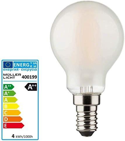MÜLLER LICHT 400196 A+, Retro LED Lampe Miniglobe, ersetzt, Glas, 2,2 W, E14, Gold, 4.5 x 4.5 x 7.7 cm