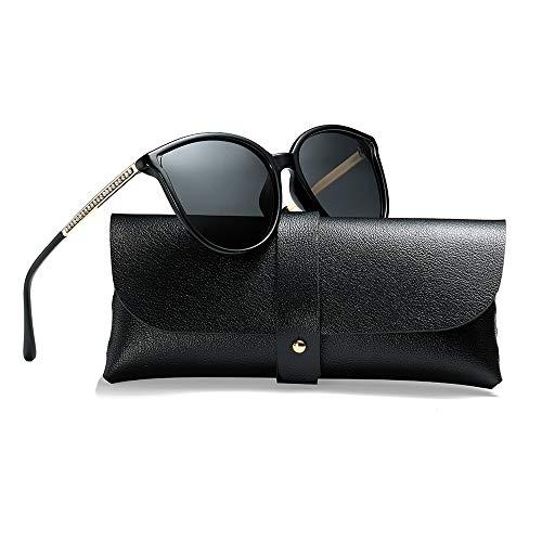 Polarized Sunglasses for Women 100% UV Protection Vintage Cateye Sunglasses Anti-glare Lens ()