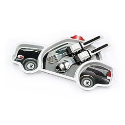 Urban Trend Funwares Police Car Dinner Set: Kids Dishwasher Safe Dining Plate and Utensils