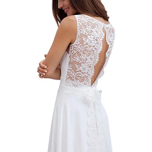 Damen Weiß weiß Kleid ABaoWedding weiß ZH4wxq