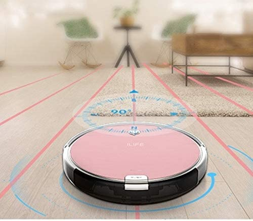 Gmjay Robot Aspirateur 3 en 1 Robot de Balayeuse a La Maison a Recharge Automatique pour Les Sols en Bois/Carrelage/Marbre/Tapis