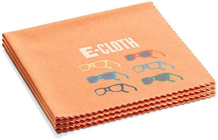 E-Cloth Glasses Cloth, Microfiber, Orange, 3 Pack
