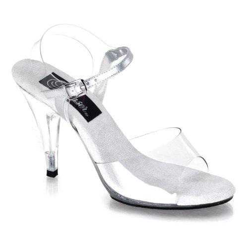Pleaser Women's Caress 408 Sandal,Clear/Clear,7 M US