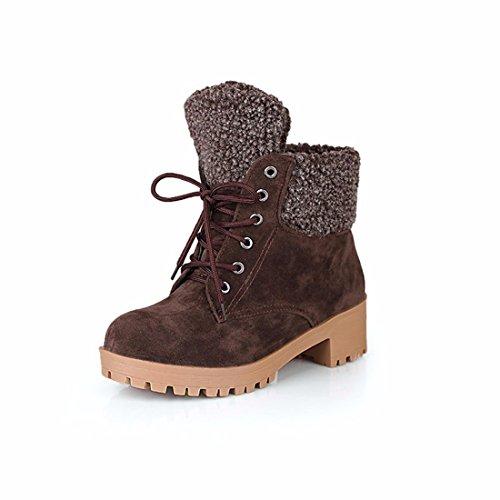 parte de botas Dichotomanthes tamaño Botas de cortas británico gran final femenino nieve con estilo invierno brown de Unqd8xfp