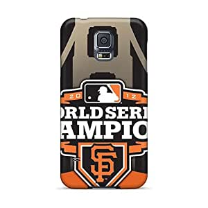 Scratch Protection Hard Phone Case For Samsung Galaxy S5 (FTq27173QzcD) Allow Personal Design Vivid San Francisco Giants Pattern
