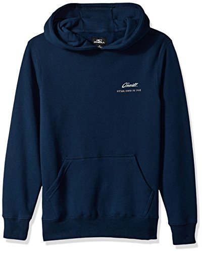 Oneill Tree - O'Neill Boys' Big Long Sleeve Logo Pullover Hoodie, Double Tree Navy, S