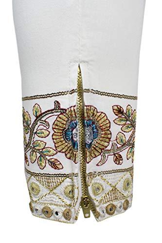 Sari Bianco Donna White Jeans 19swdd09 Denim Desigual xBtaYa
