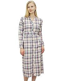 Phagun Women's Full Sleeve Designer Mid Calf Cotton Wear Dresses