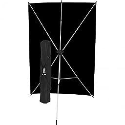 Westcott 578K X-Drop Kit with 5 x 7 Feet Black Backdrop (Black/Silver)