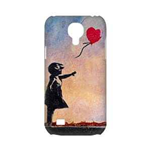 Graffiti Artist Banksy Famous Work&Balloon Girl Background Case Cover for SamSung Galaxy S4 mini i9192/i9198 - Personalized Hard Cell Phone Back Protective Case Shell-Perfect as gift