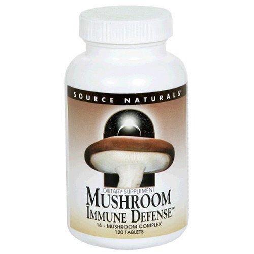 Source Naturals défense immunitaire, de 16 champignons complexes, 120 Comprimés