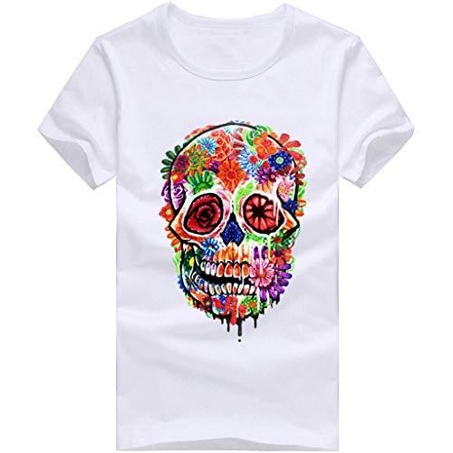 Camiseta para Hombre,Verano Manga Corta Hombre Unisex 3D Impresi/ón Moda Diario Casual T-Shirt Camiseta Jaspeada de Cuello Redondo Suave b/ásica Tops Camiseta vpass