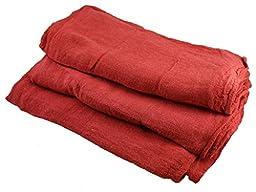 Atlas Cotton Auto Shop Towels, 50-Pack, Red