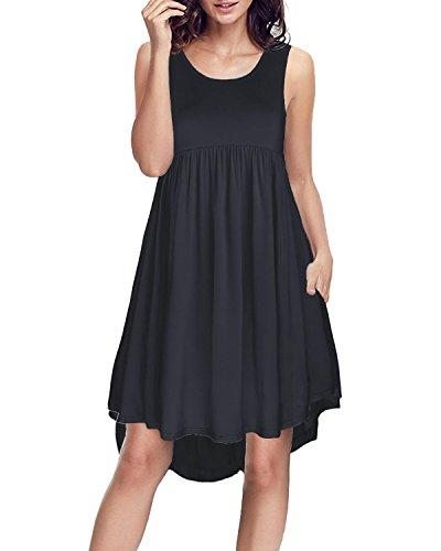 Ineffable Womens Sleeveless Pockets Casual