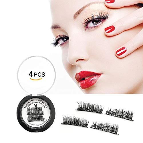 Magnetic Eyelashes, Dual Magnetic False Eyelashes, Glue-Free 3D Reusable Full Size Eyelashes, 0.2mm Ultra Thin Fake Lashes for Natural & Premium Quality, Easy to Supply
