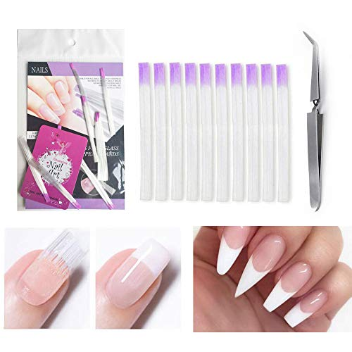 Nail Extension Fiberglass Acrylic Nails Builder Tips, Shape Clamp, DIY Nail art Design Tools (Bi025)