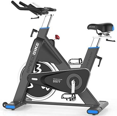 pooboo Indoor Cycling Bike 44lbs Flywheel Exercise Bike Belt Drive Stationary Bicycle