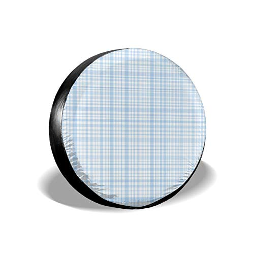 (GULTMEE Tire Cover Tire Cover Wheel Covers,Plaid Quilt Pattern with Squares and Lines Abstract Traditional Arrangement,for SUV Truck Camper Travel Trailer Accessories(14,15,16,17 Inch) 16)