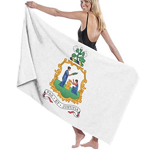 レタスブースゾーンビーチバスタオル バスタオル セントビンセントとグレナディーン諸島の国旗の紋章 ビーチタオル 海水浴 旅行用タオル 多用途 おしゃれ White