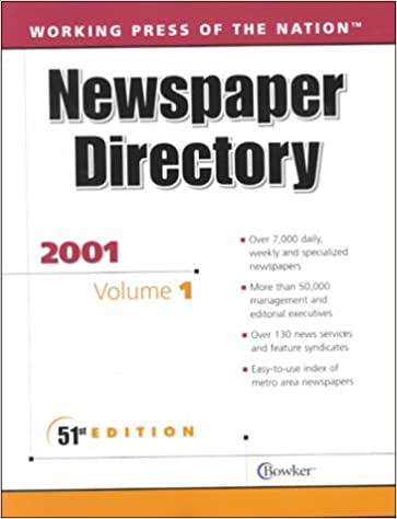 Book Working Press of the Nation 2001: Newspaper Directory, Magazines and Internal Publications Directory, TV and Radio Directory (Working Press of the Nation. 3 Volume Set, 2001)
