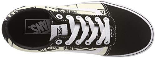 Logo Noir Vans Femme Baskets Vvp Canvas White mix Black off Ward IAwfwq