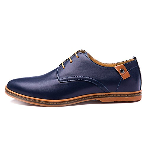 Oxford Casual Pelle Minetom Blu Autunno Stringate Scarpe Uomo Moda Basse Basse Scarpe Classiche in Scarpe fnUCUxR