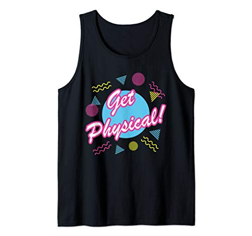 Funny 80s Workout Gym Costume  Tank Top]()