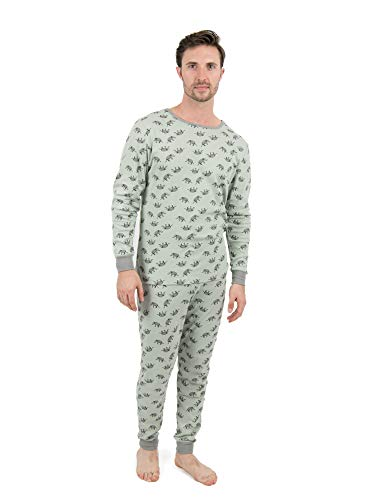 Leveret Mens Pajamas Elephant 2 Piece Pajama Set 100% Cotton Size X-Large