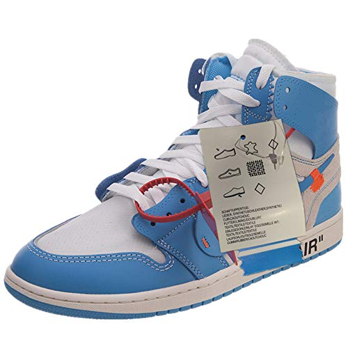 (AJ 1 X White Air Nrg Off Mens Basketball Shoes Ow UNC High Top Sneaker AQ0818-148)