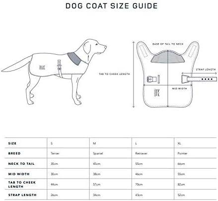 barbour dog jacket sizing