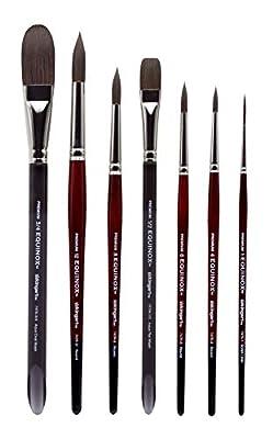 KINGART Equinox Premium Paint Brush Set, TAKLON Assorted Sizes