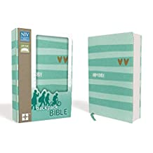 NIV, Backpack Bible, Compact, Flexcover, Turquoise/Gold