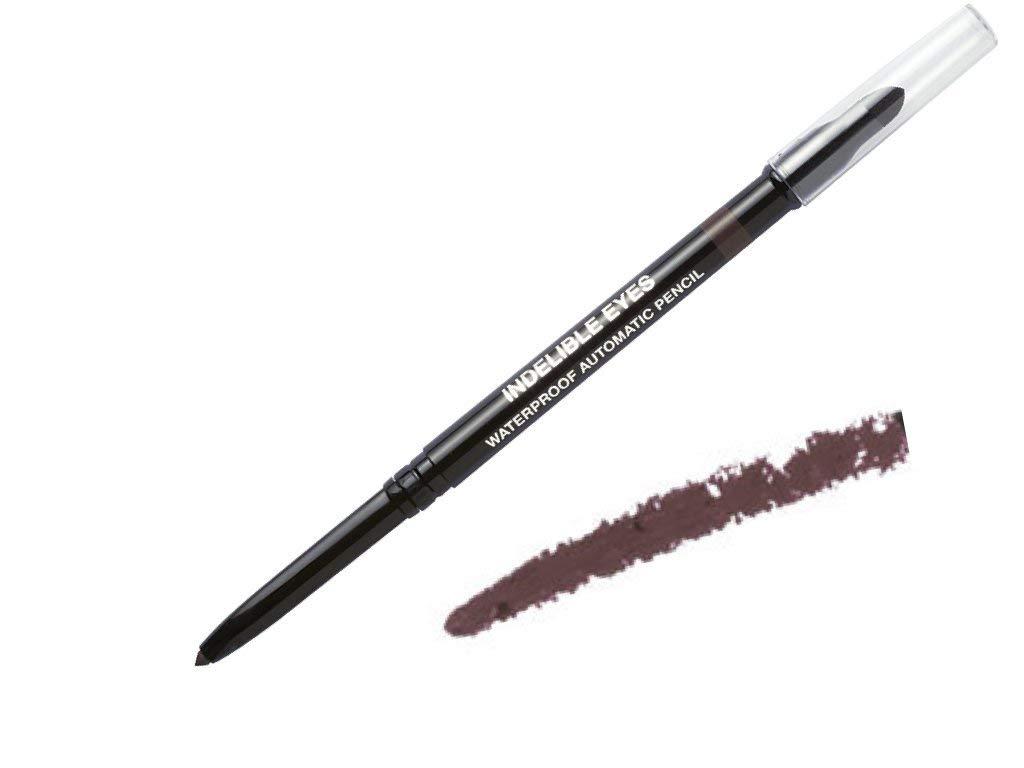 Indelible Eyes Smooth Waterproof Gel Eyeliner - BROWN STONE - Smudge proof - Ultra Smooth - Super Easy - Long lasting - Blender tip - Longwear - no sharpener needed - Twist Out - Slim-line Pencil