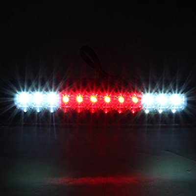 For 99-07 F250/F350/F450/F550 Superduty Pickup Truck Black LED Styleside Tail Lights + Smoked Rear 3rd Third Brake Light: Automotive