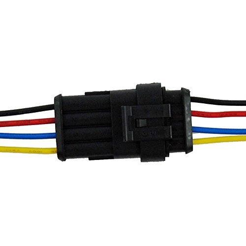 PsmGoods wasserdichte Auto 5Kit 6 Pin elektrischer Anschluss-Stecker mit Draht AWG Meeres 6 Pin