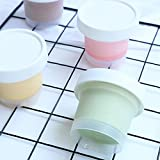 YIJIA 100ml Plastic Ice Cream Cup with Lid Mousse