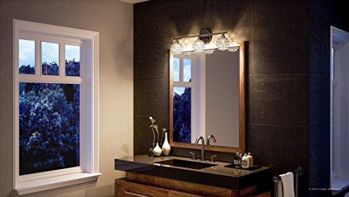 Luxury Crystal Globe LED Bathroom Vanity Light, Medium Size: 8''H x 23''W, with Modern Style Elements, Polished Chrome Finish and Crystal Studded Shades, G9 LED Technology, UQL2631 by Urban Ambiance by Urban Ambiance (Image #1)