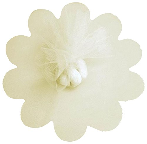 Ivory Tulle Circles with Petal Edge 25/pkg. 9
