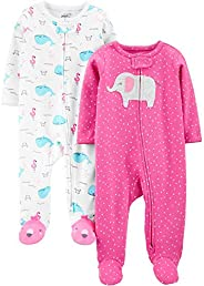 Simple Joys by Carter's Baby-Girls 2-Pack Cotton Footed Sleep and Play Baby and Toddler Slee