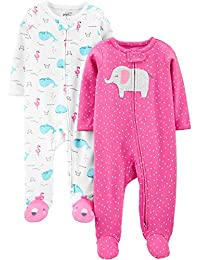 Simple Joys by Carter's Baby-Girls 2-Pack Cotton Footed Sleep and Play Baby and Toddler Sleepers