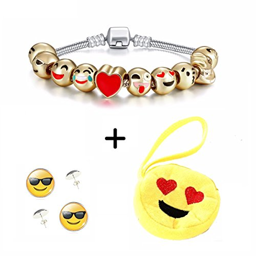 anna-radisson-emoji-bracelet-earrings-include-a-yellow-purse-combo-pack-3-items