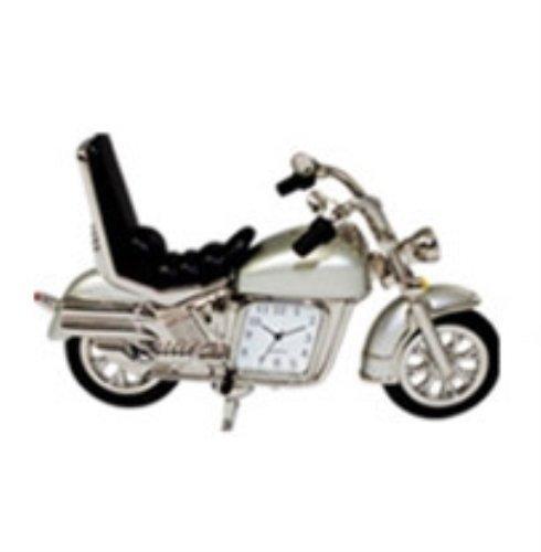 StealStreet SS-KD-3531-SILVER Die Cast Metal Hog Motorcycle Analog Quartz Clock, 5, Silver