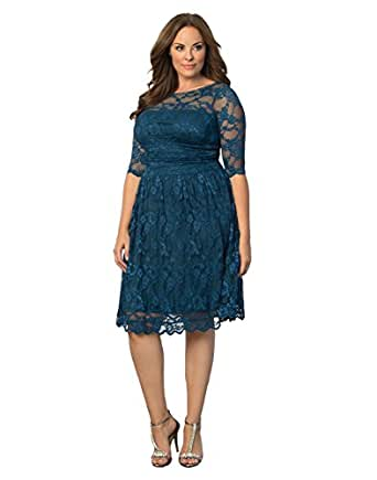 Kiyonna women 39 s plus size luna lace cocktail dress at for Cocktail 1789